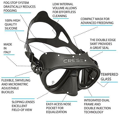 Zoom IMG-2 cressi ds425050 maschera subacquea unisex