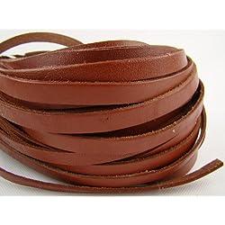 Correa de cuero (10 milímetro de ancho, 5 m de longitud) Grosor: 2,5 mm. Marrón claro