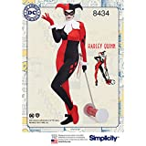 Simplicity 8434AA (10–12–14–16–18) Patron de tricot DC Bombshell Harley Quinn Costume, papier, Blanc, 22.27x 15.27x 1.27cm