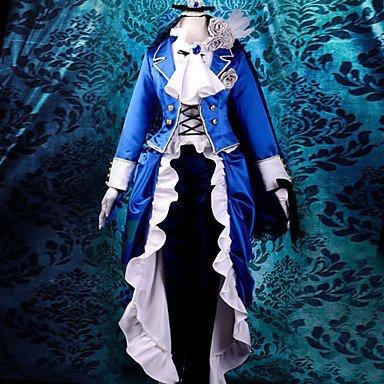 Sunkee Black Butler Cosplay Ciel Phantomhive Ciel Blau Kleid, Größe XL( Alle Größe Sind Wie Beschreibung Gesagt, überprüfen Sie Bitte Die Größentabelle Vor Der Bestellung )