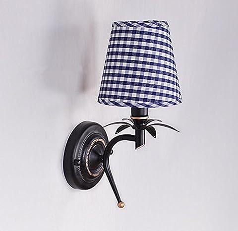 E14 Lampe De Chevet En Gewebe-Rétro Couloir De Chambre Lampe Murale En Fond De Led (14 * 32Cm)