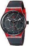 Swatch sutr400sistem51Unisexe Cadran Noir Bracelet en Silicone Noir Montre Automatique