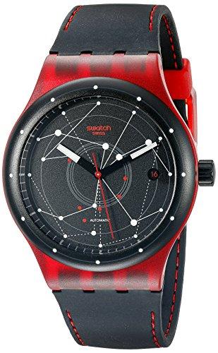 Swatch SUTR400 Sistem51 Unisex, quadrante nero, cinturino orologio, in Silicone, colore: nero