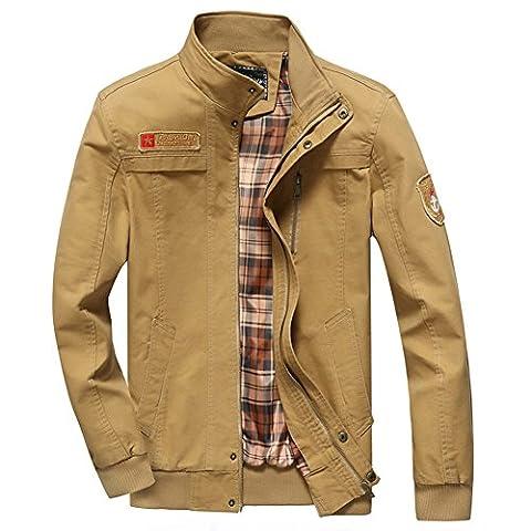 Newbestyle Homme Veste Militaire Blousons Veste à Col Mince Coton Pour Le Printemps et L'automne Manteau Veste