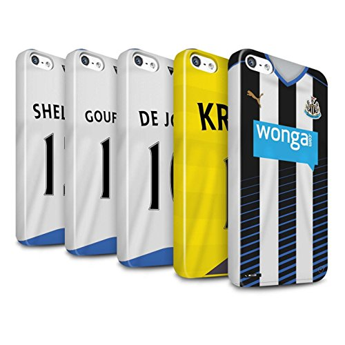 Offiziell Newcastle United FC Hülle / Glanz Snap-On Case für Apple iPhone SE / Elliot Muster / NUFC Trikot Home 15/16 Kollektion Pack 29pcs
