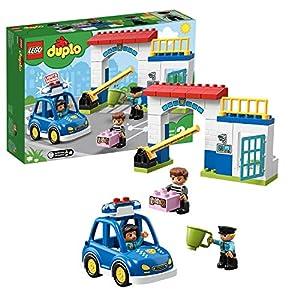 LEGODuploTownStazionediPolizia,LuceeSuono,AutodellaPolizia,Cellae2FigurediPoliziotti,GiocattoliperBambini,10902 LEGO