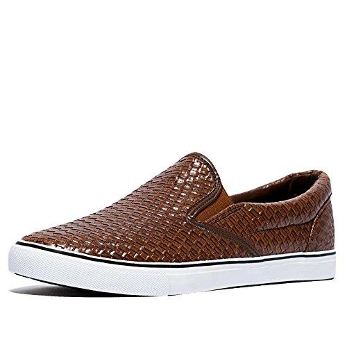 R&R woven scarpe da ginnastica da uomo | PU uomo marrone | Taglia 45