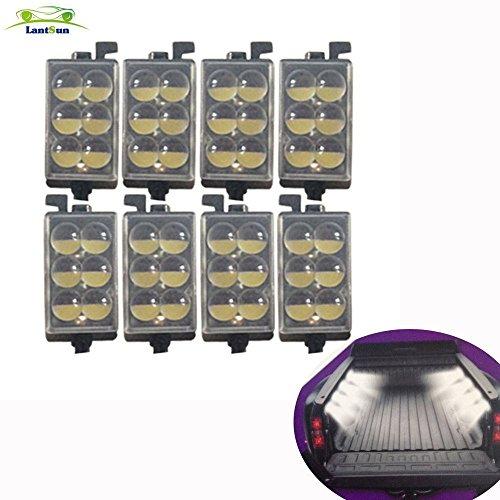 Lantsun universale Camion letto ferroviario LED Light Kit per il pick up Toyota, Ford, Ram, GMC Cargo Area (1 set) J153G
