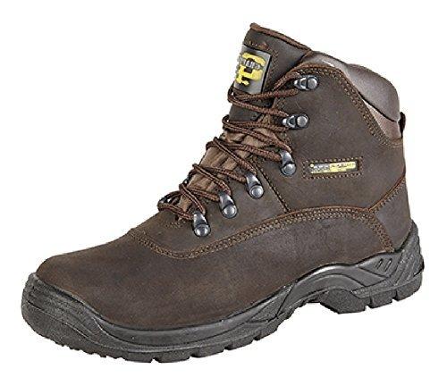 Grafters , Chaussures de sécurité pour homme Marron