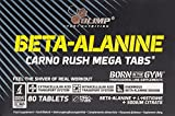 Olimp Beta-Alanine Carno Rush 80 Tabletten