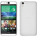 PhoneNatic Case kompatibel mit HTC Desire Eye - weiß Silikon Hülle S-Style + 2 Schutzfolien
