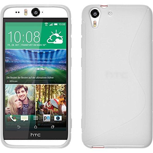 PhoneNatic Case für HTC Desire Eye Hülle Silikon weiß, S-Style + 2 Schutzfolien