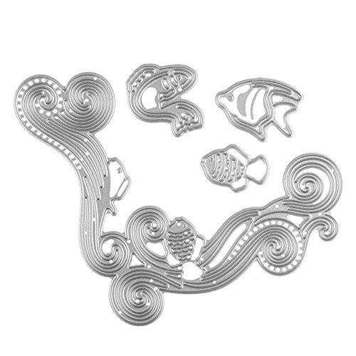 enipate Metall schneiden stirbt Sea World Fisch Wave für Scrapbooking Album Einladung Home Dekoration Prägung Schablonen Schnitt - Halloween-kürbis Schablonen Tinkerbell