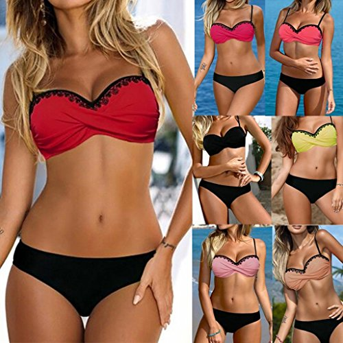 b2e2d7d62f64 Costume da Bagno - Bikini Set,feiXIANG® 2018 più Nuovo Bikini Sexy Donna  Costume da Bagno delle Donne Costumi da Bagno Push-up Lace Up Sera Abito da  ...