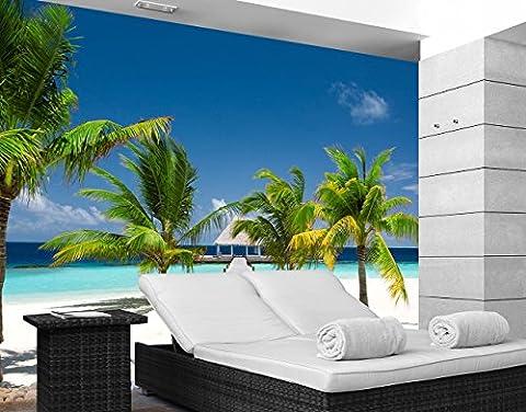 Papiertapete - Fototapete No.242 'PARADISE BAY' 280x200cm Motiv XXL Poster , Größe:280cm x 200cm