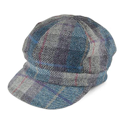 Failsworth Gabby Harris Tweed Bakerboy Ballonmütze - Blau-Mix - One Size