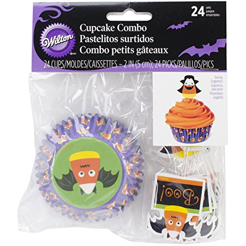 Wilton Cupcake-Combo Pack, Jack O Laterne, 24 Stück (Wilton Cupcake Halloween Pack Combo)