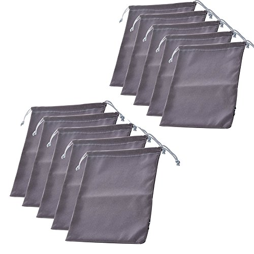 lenhar Set di 2Premium Grigio Cuffie da viaggio coulisse Pouch Bag
