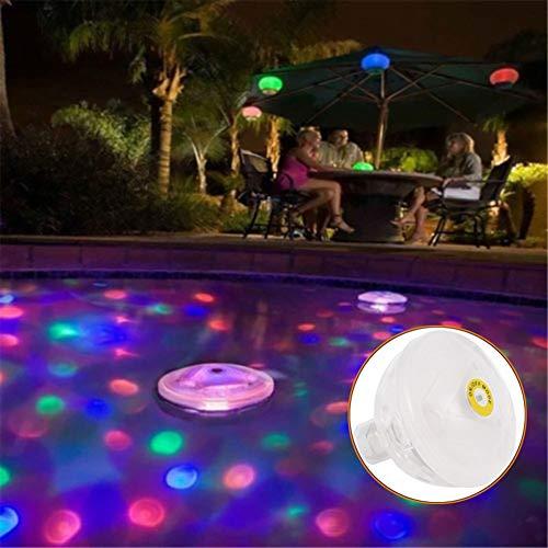 Danigrefinb, Luci per esterni, galleggianti per piscina, subacquee, a LED, impermeabili, per piscina e vasca da bagno, Multicolore, taglia unica