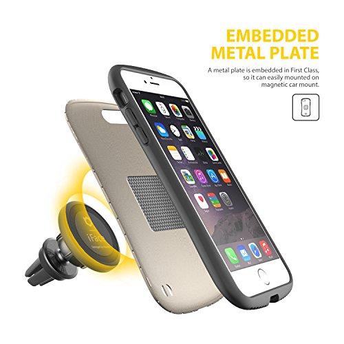 IPhone 7 Plus Case e Car Holder, caso duro iFace [Duo Series] 2in1 robusta protezione con Magnetic Air Vent Car Mount Kickstand per Apple iPhone 7 Plus (2016) - grigio canna di fucile Champagne Gold