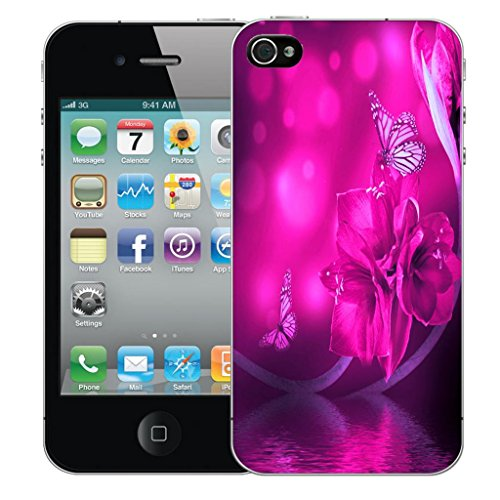 Nouveau iPhone 5s clip on Dur Coque couverture case cover Pare-chocs - ultra butterfly Motif avec Stylet water butterfly