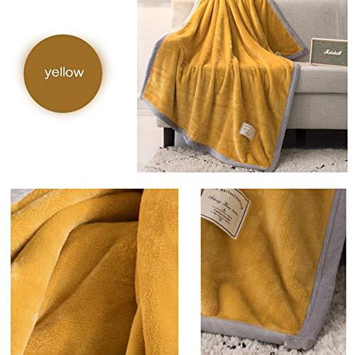 IF.HLMF Multifunktionale Ärmeldecke für Vier Jahreszeiten, Lazy Blanket Verdickung Büro Nickerchen Sofa Klimaanlage Decke, Steppdecke, Gelb -