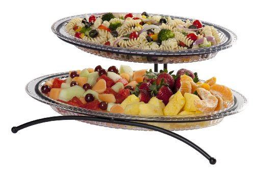 CreativeWare 2-Tier Buffet Server, Includes 1 Small and 1 Larger Platter by CreativeWare -