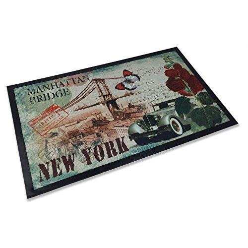 Alfombra Felpudo Steven New York Manhattan Bridge cm.45x 75