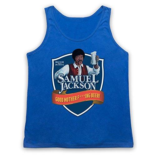 Samuel Jackson Good Motherf'ing Beer Chappelle Show Parody Tank-Top Weste Blau