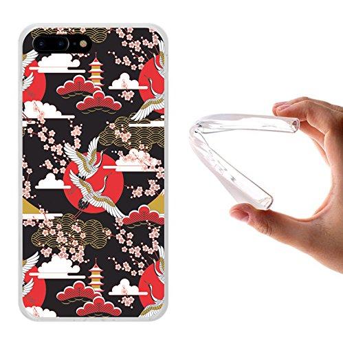 iPhone 7 Plus Hülle, WoowCase Handyhülle Silikon für [ iPhone 7 Plus ] Astronaut Herz - I Love To the Moon And Back Handytasche Handy Cover Case Schutzhülle Flexible TPU - Transparent Housse Gel iPhone 7 Plus Transparent D0298