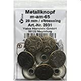 8 Metall Knöpfe altmessing 20 mm, Jeansknöpfe Metallknöpfe Jeans Knopf, m-am-65