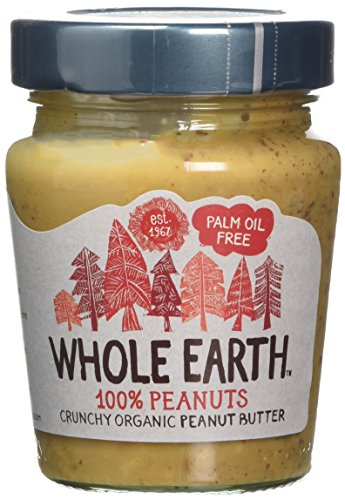 Whole Earth Organic Crunchy Palm Oil Free Peanut Butter 227 g (Pack of 6)