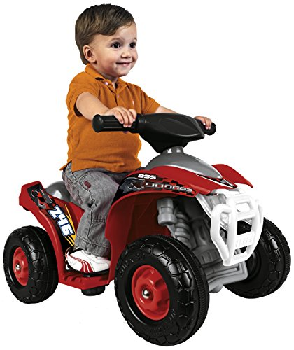 Feber-800007510 Vehículo eléctrico Dodger Quad, Color Negro, Gris, Rojo, Blanco (Famosa 800007510)