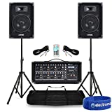 Power Dynamics Complete Band PA Speaker System 400w with 8 Channel Mixer Amplifer