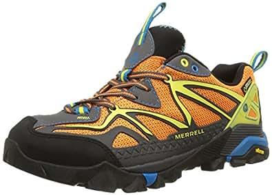 Merrell Capra, Chaussures Multisport Outdoor homme, Orange (Granite/Orange), 43 EU