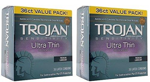 Price comparison product image Trojan Ultra Thin Condom 36ct by Trojan