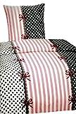 2 teilig Bettwäsche 135x200 oder 155x220 Microfaser Farbe wählbar, Maße:135x200cm, Muster:Marie Rosa