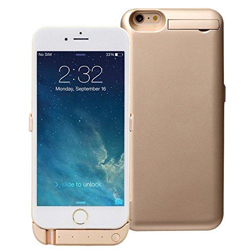 awortek 10000mAh Akkuhülle Hüllecase Batterie Akku Case Cover Hülle etui Zusatzakku Power Pack Externer Akku power bank für apple iphone 6 plus/ 6s plus - gold Iphone 6-akku-pack Gold