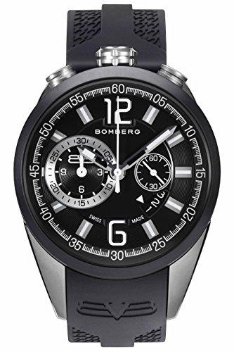 Bomberg Orologio Cronografo Quarzo Uomo con Cinturino in Silicone NS44.0079