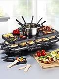 Gourmet Maxx elektr. Raclette Fondue Set Grillplatte Grill Tischgrill aus TV