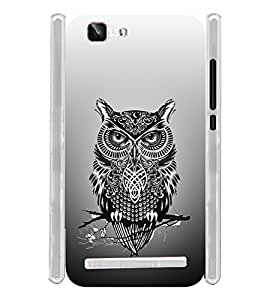 Tatto Owl Pattern Art Soft Silicon Rubberized Back Case Cover for Vivo X5 Max