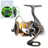 Daiwa Freams Spinrolle Angelrolle + gratis Alligator Flex Schnur (4000)