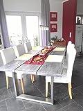Schneck Tischgestell Esstisch Edelstahl Tischuntergestell Kufengestell 73x50cm TG4VA7350
