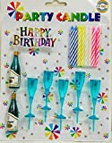 Gifts Online Birthday Candles - (Champagne Bottle And Glasses Design)