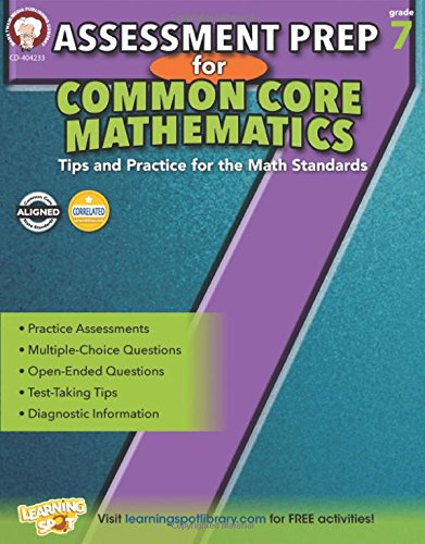 Download Epub English Assessment Prep for Common Core Mathematics, Grade 7 (Common Core Math Literacy) RTF