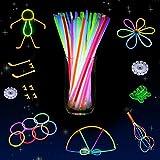 Whimsroom - Set fiesta 110 varitas luminosas multicolor con kit...
