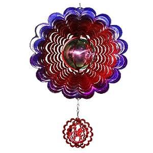 Next Innovations Kolibri Gazing Ball, blau und rot