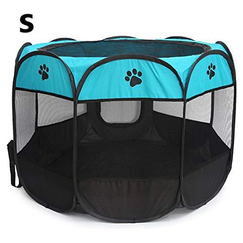 NoyoKere Portable Folding Pet Zelt Hund Haus Cage Hund Katze Zelt Laufstall Welpen Zwinger Einfache Operation Achteckigen Zaun Outdoor Supplies