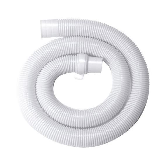 SBD Universal Plastic Top/Semi Load Washing Machine Outlet Drain Waste Water Hose Flexible Hose Pipe, 1.5m (White, WP-PVC-00) - Pack Of 1