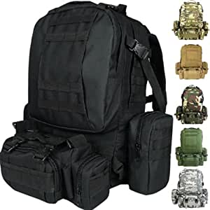 Cvlife 50L Molle 3 Day Assault Tactical Outdoor Military Rucksacks Backpack Camping bag (Tan)